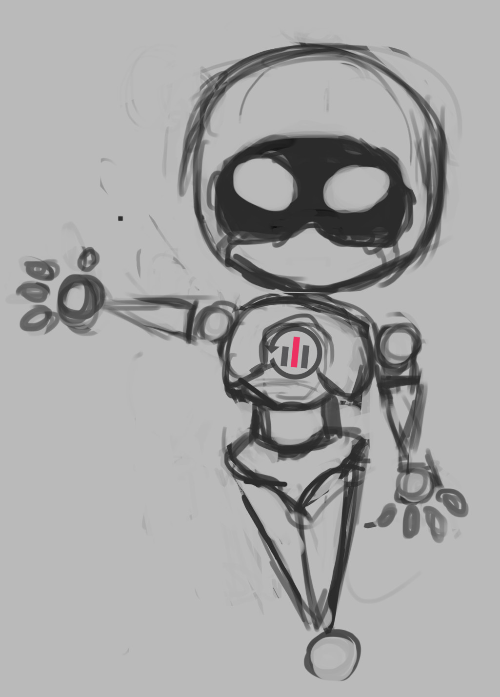 Simple Concept art of the Bot Character