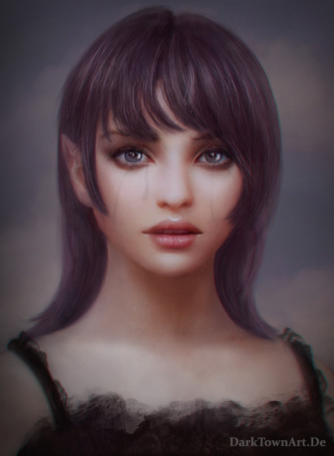 Natalie Portman Inspired Portrait: Burning Heart 2