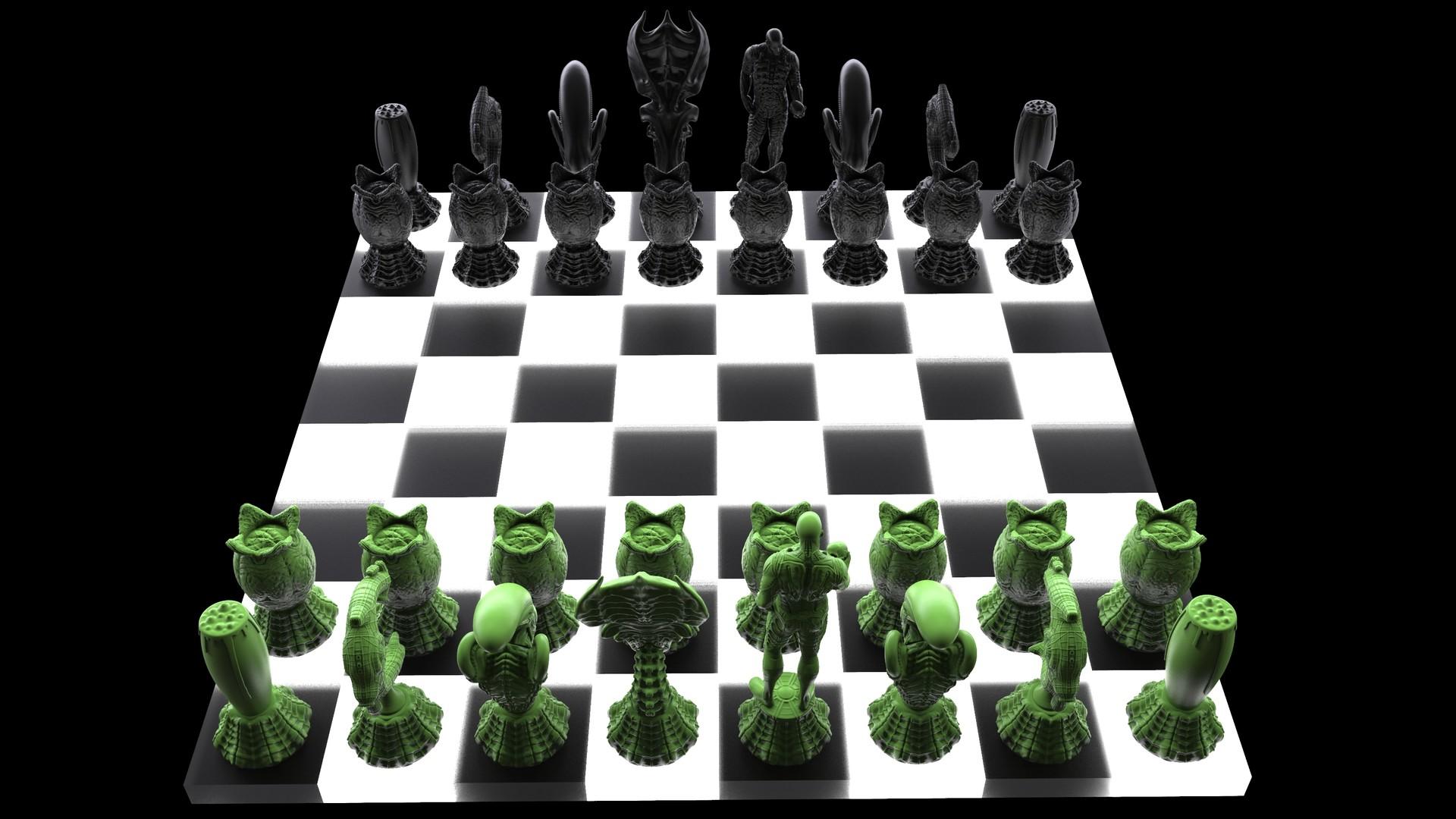 Ken calvert alien chess renders 1070