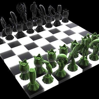 Ken calvert alien chess renders 1067