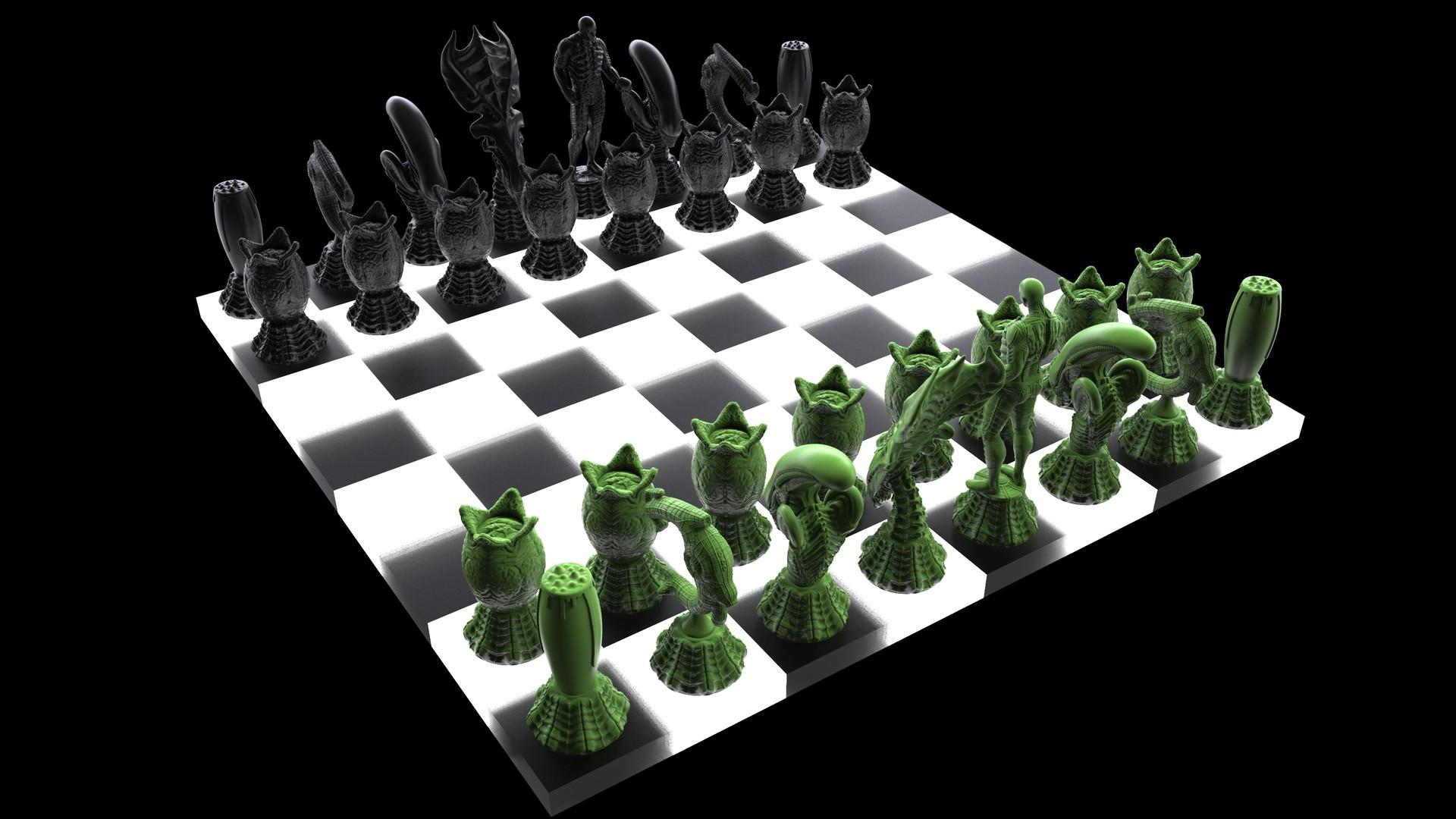 Ken calvert alien chess renders 1067
