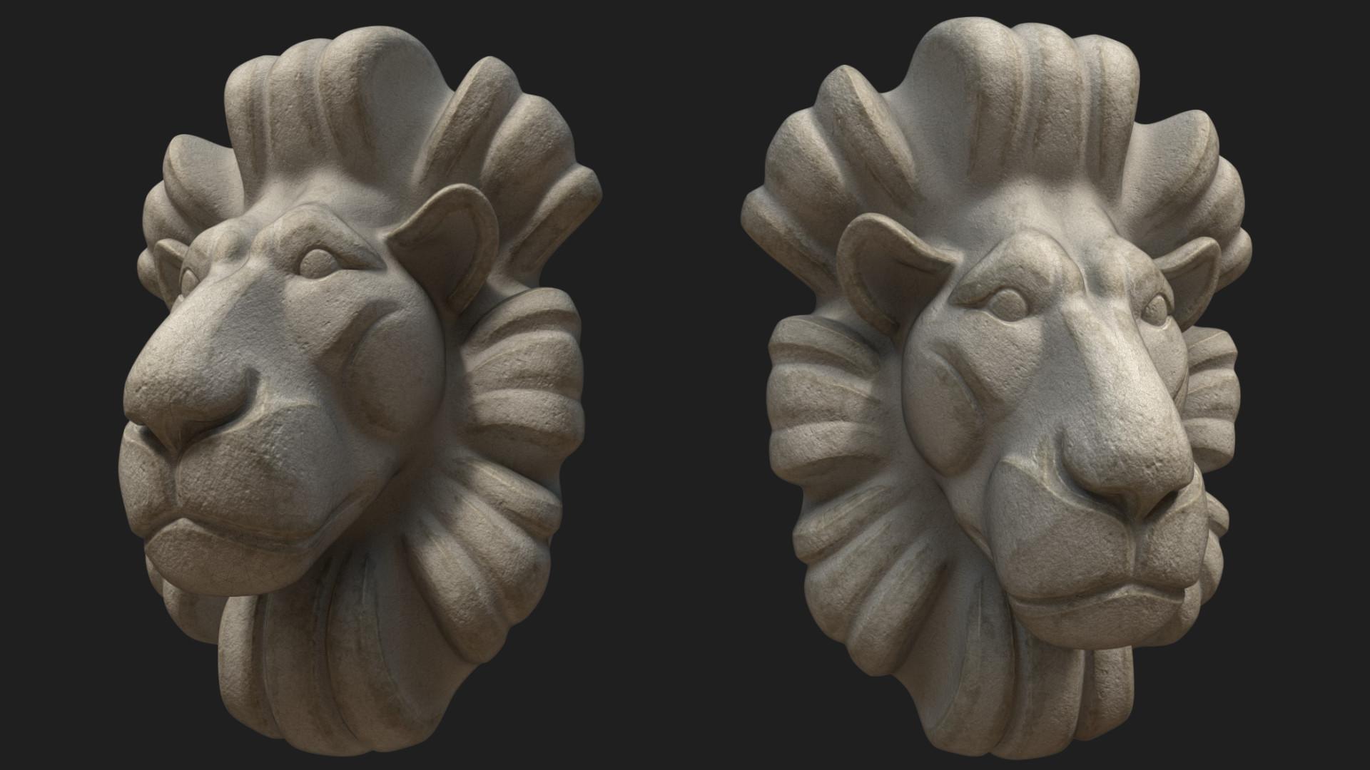 Dian mozokov lion bustcolor1