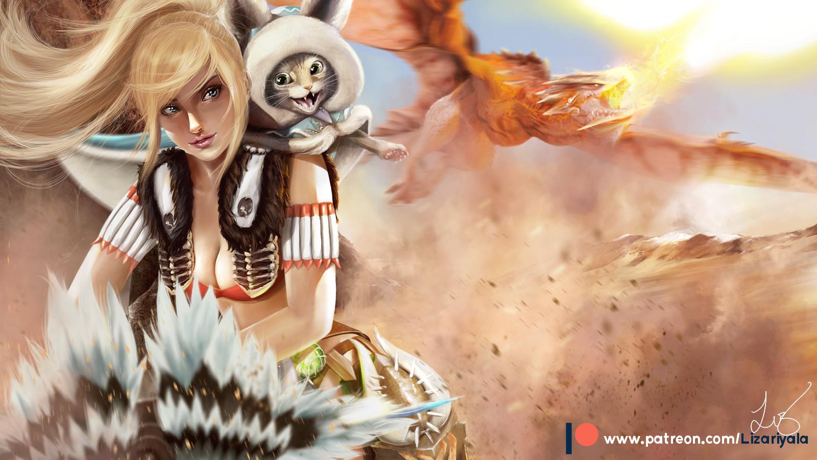 Artstation Monster Hunter World Fanart Liz Ariyala
