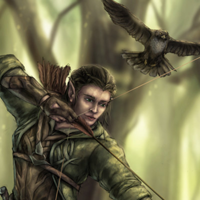 Christian hadfield low rez tulinial the wood elf ranger copy