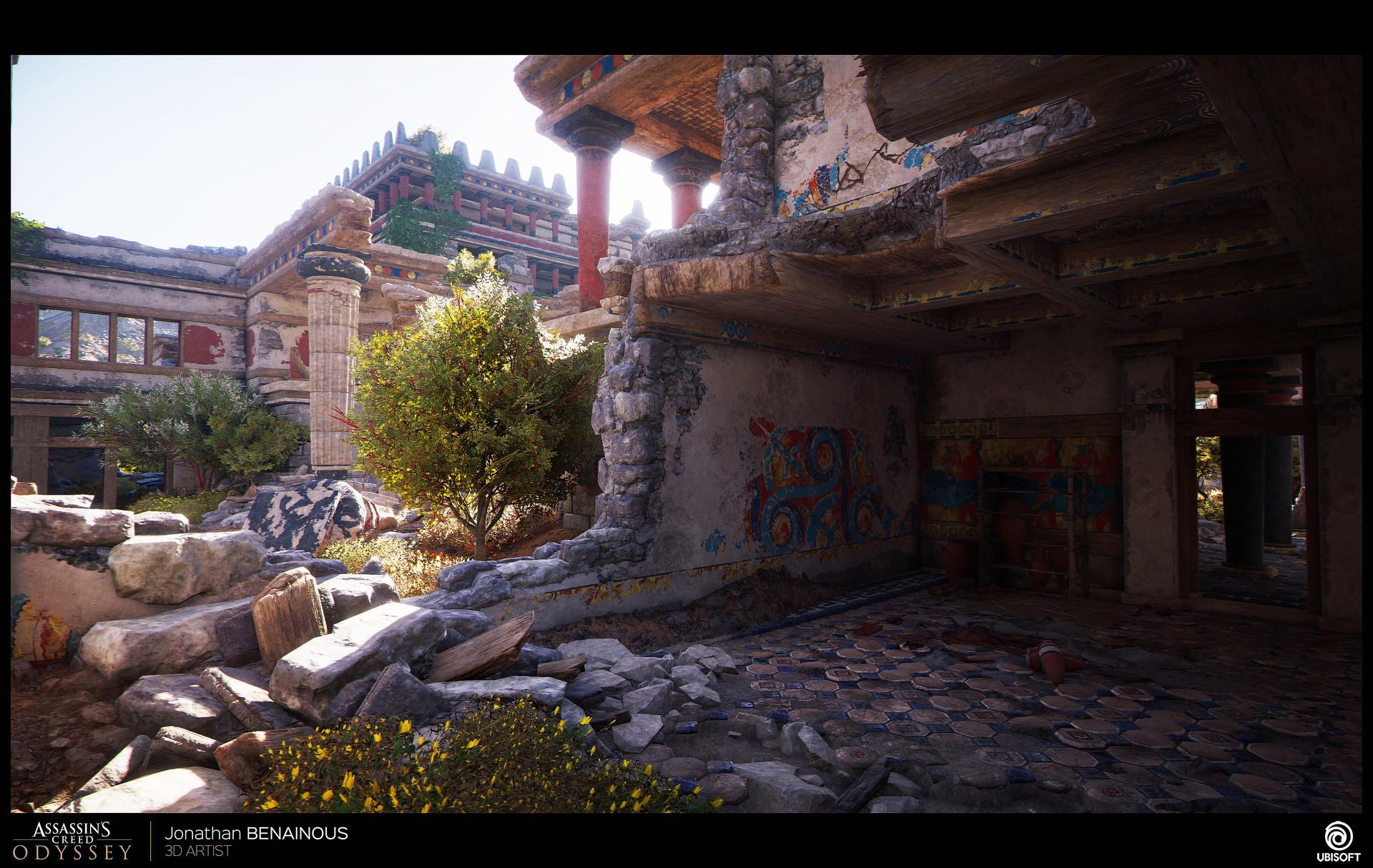 Artstation Assassin S Creed Odyssey Minoan Palace Environment