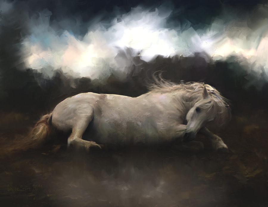 L e n t e s c u r a il cavallo senza cavaliere