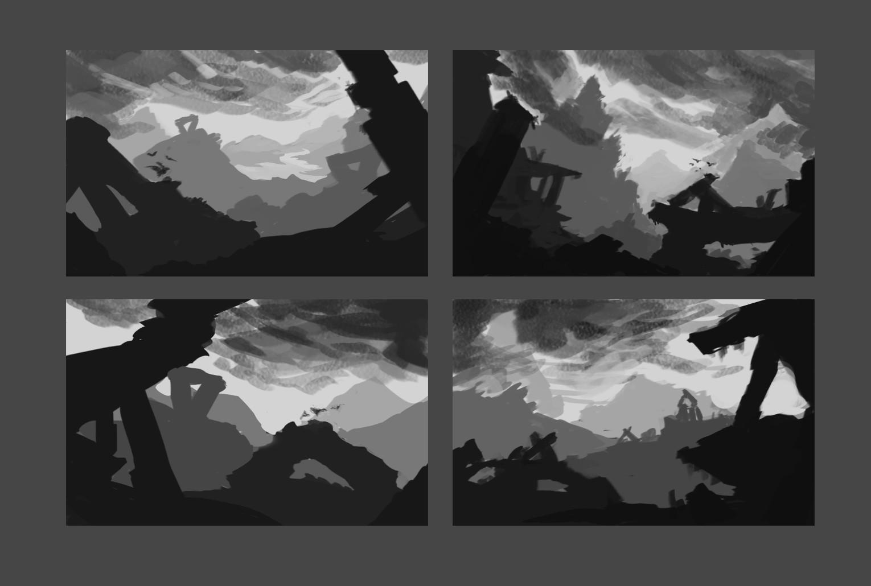 Artstation Stone Valley Fantasy Landscape Concept Art