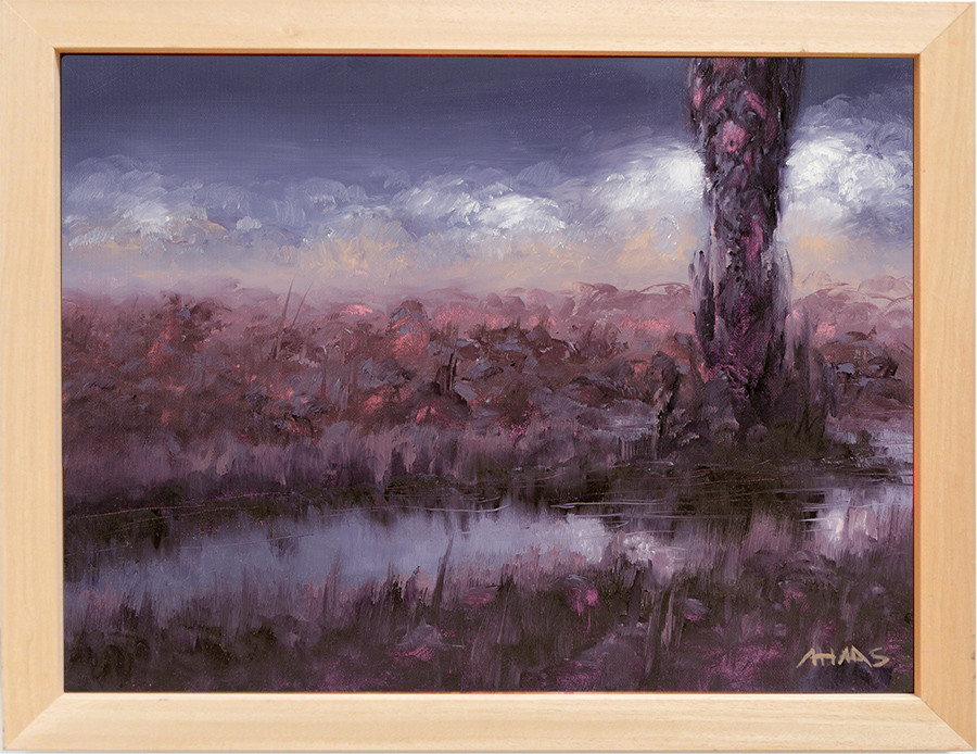 Arthur haas purpledusk framed light