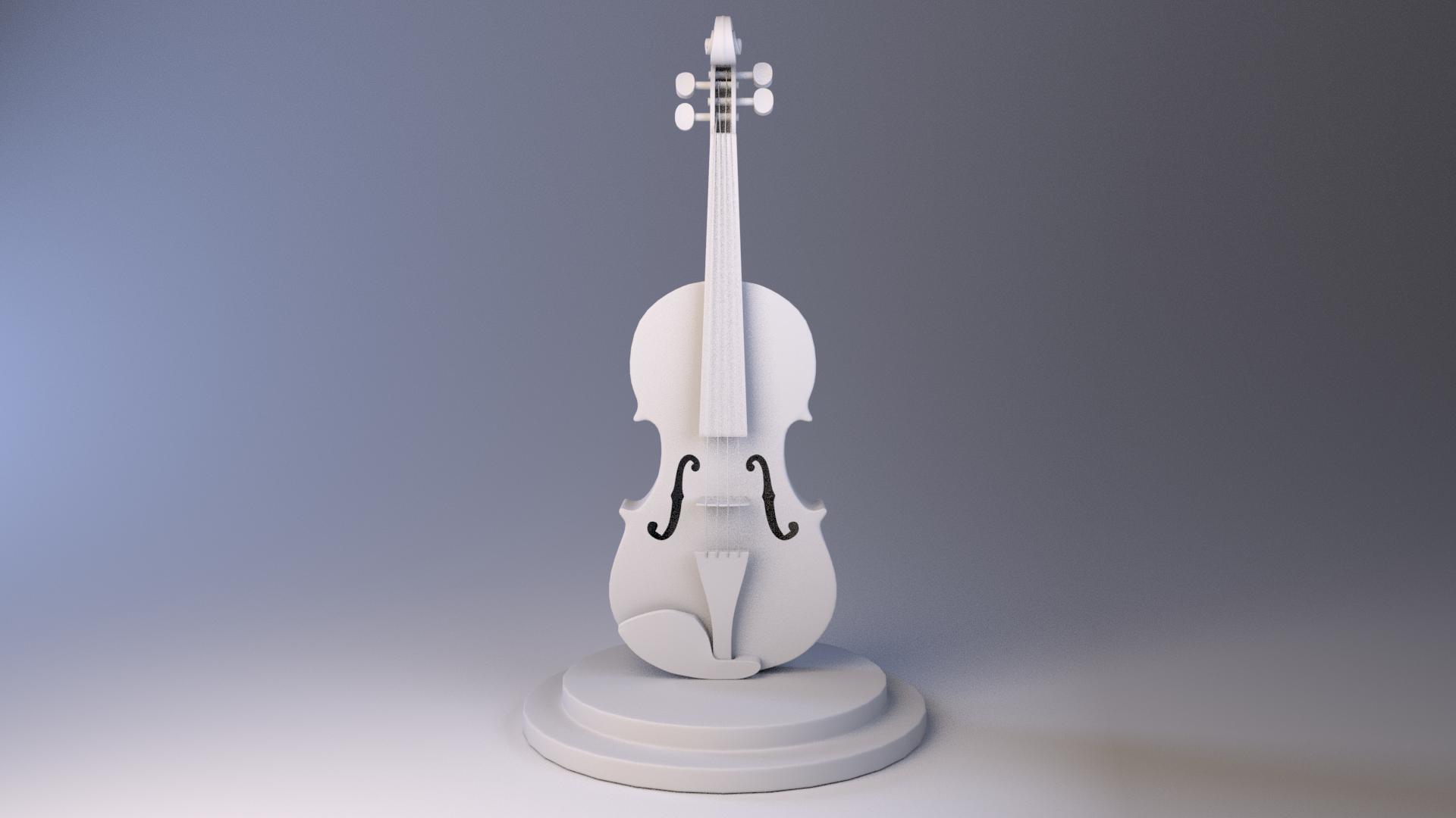 Marie maube violin white