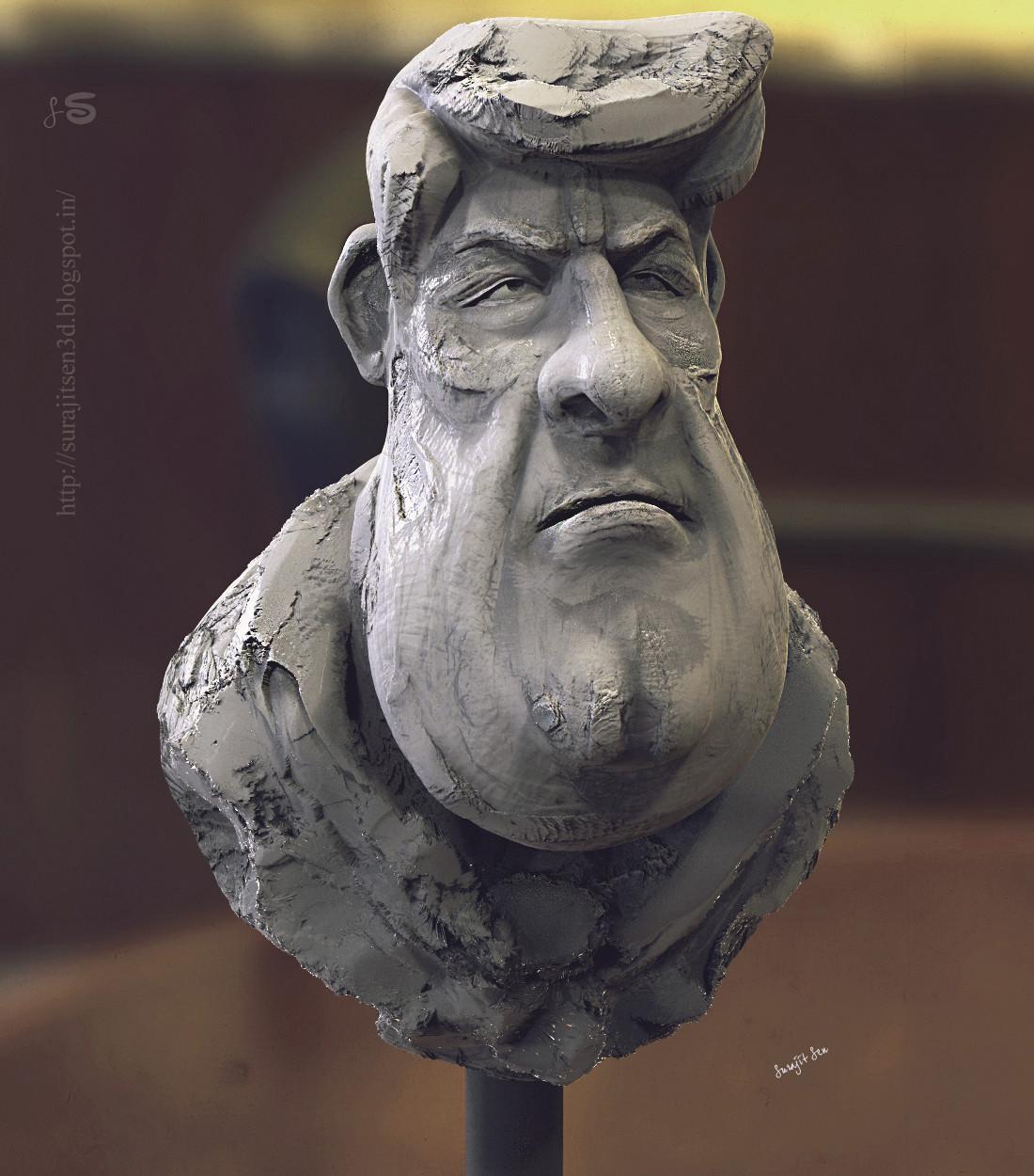 Surajit sen unminded clay sculpt suarajit sen