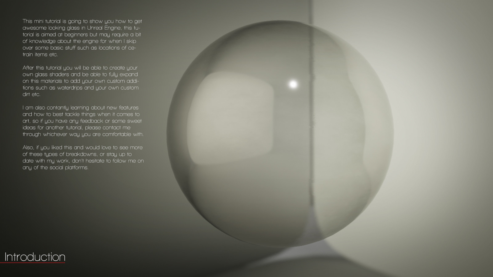 ArtStation - Glass Shaders ( An Unreal Engine 4 Tutorial), Timothy Dries