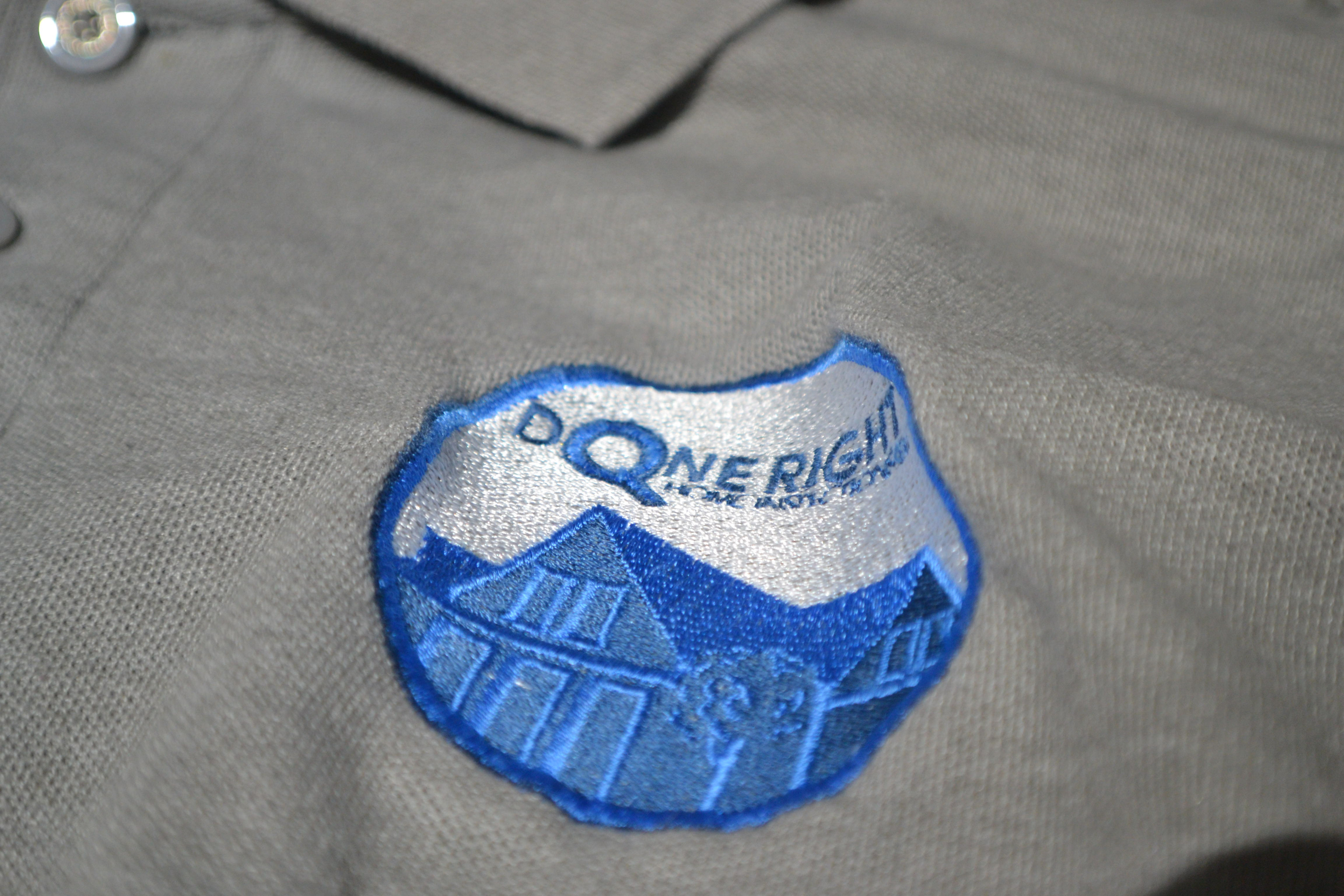Done Right Embroidered Company Shirt