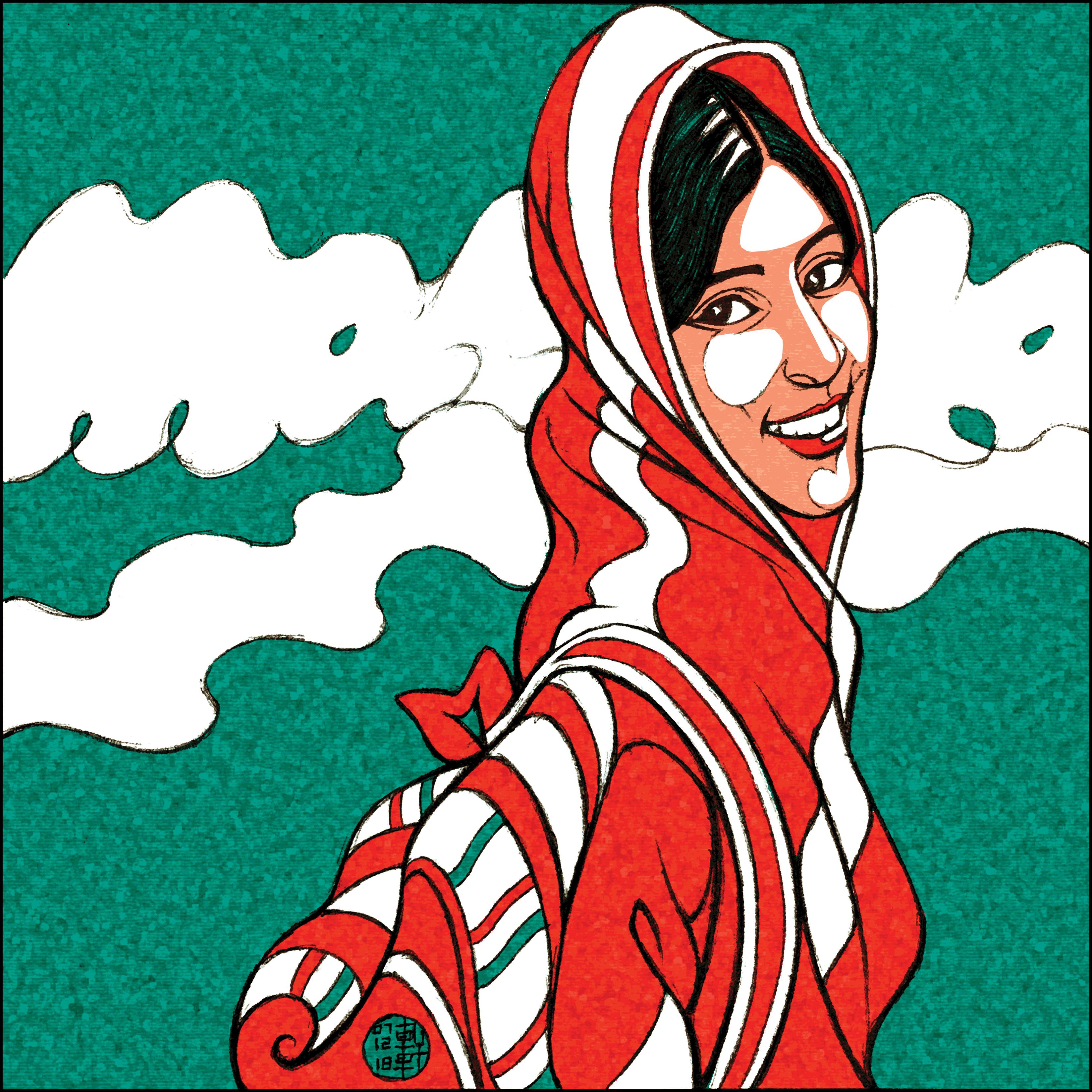 Day 07-12 -18 - Modiglianified Malala