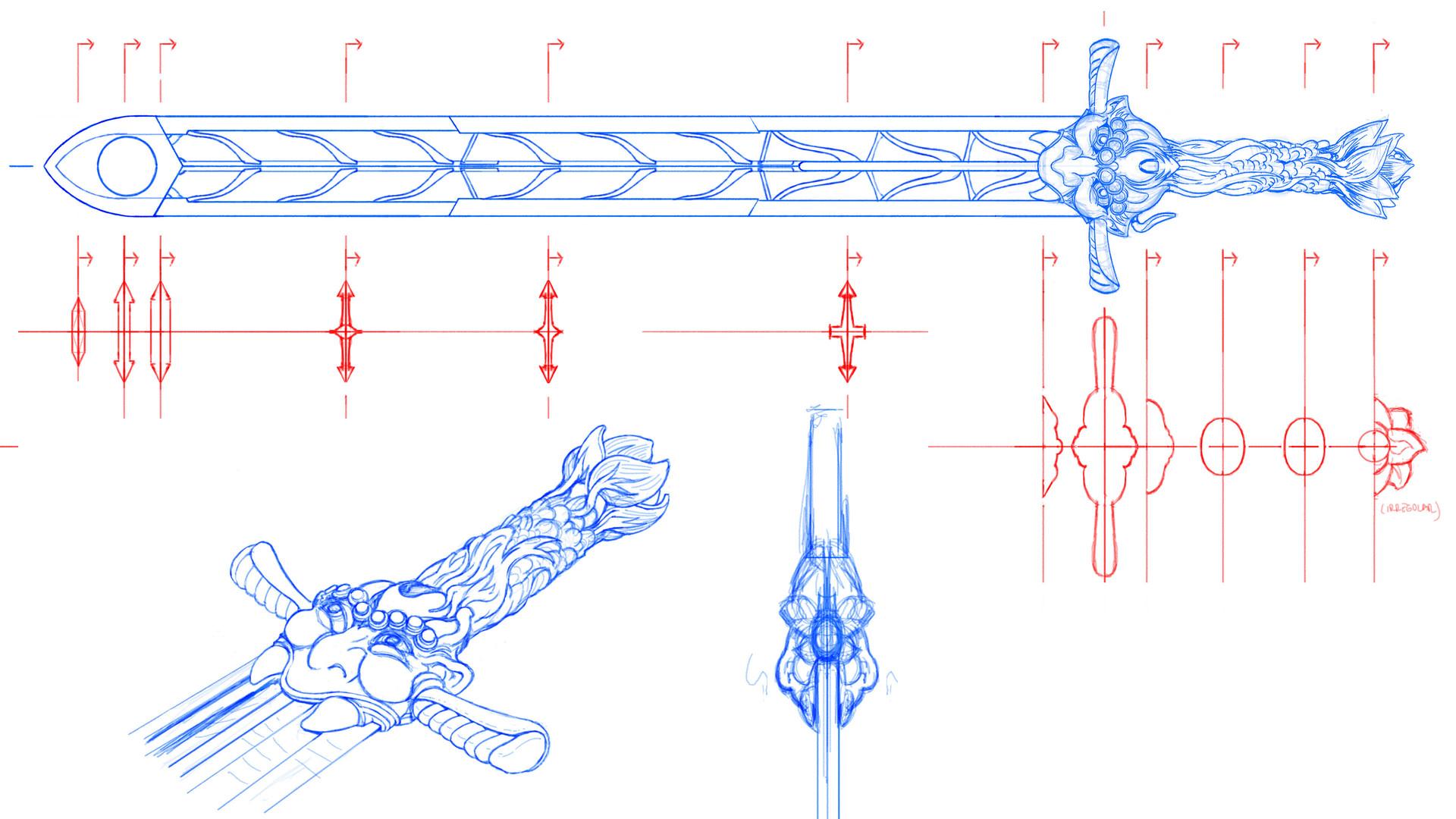Jeff zugale sword design 03
