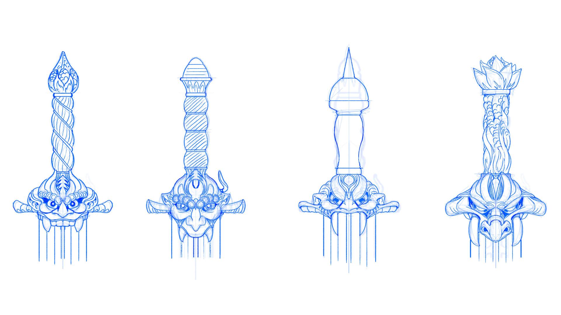 Jeff zugale sword hilt design 01