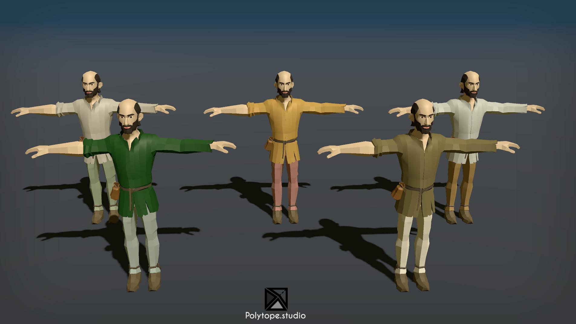 Polytope studio pt medieval peasant team variations