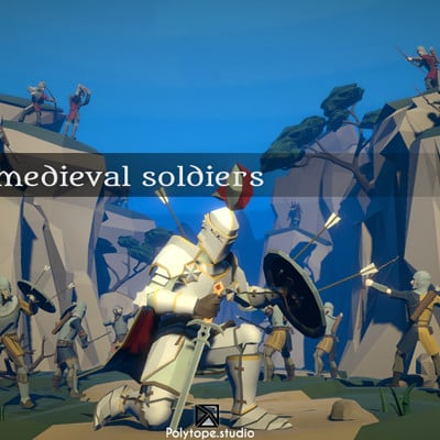 Polytope studio pt medieval lowpoly characters x