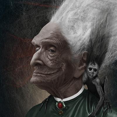 Valery petelin portrait with a familiar