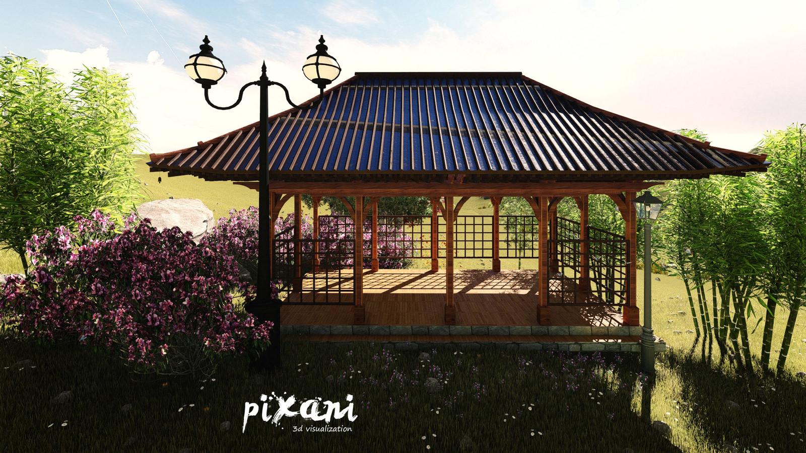 Chinese Concept Pergola Design  *Arbour*  Pixani