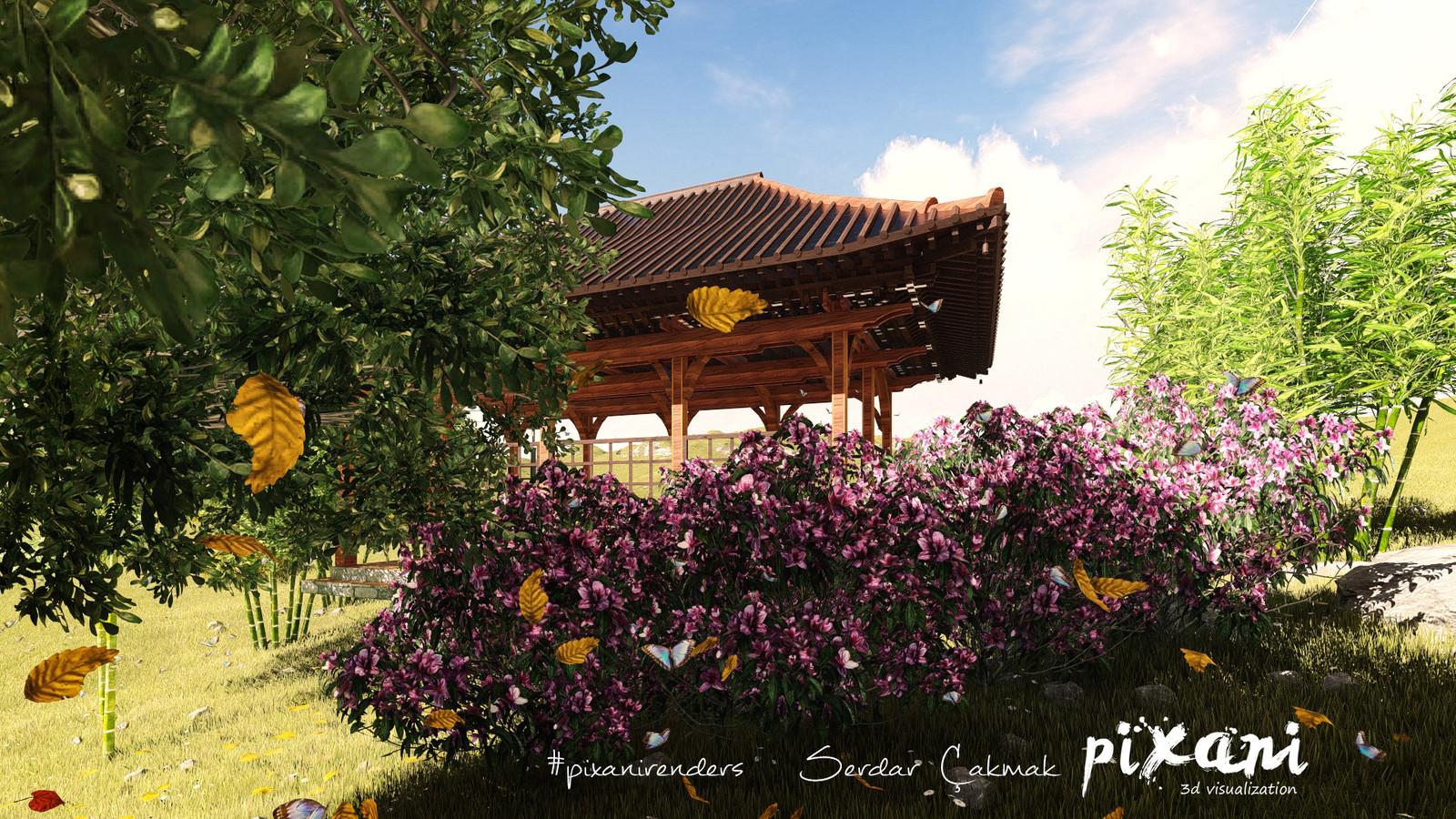 Chinese Pergola designed by Pixani