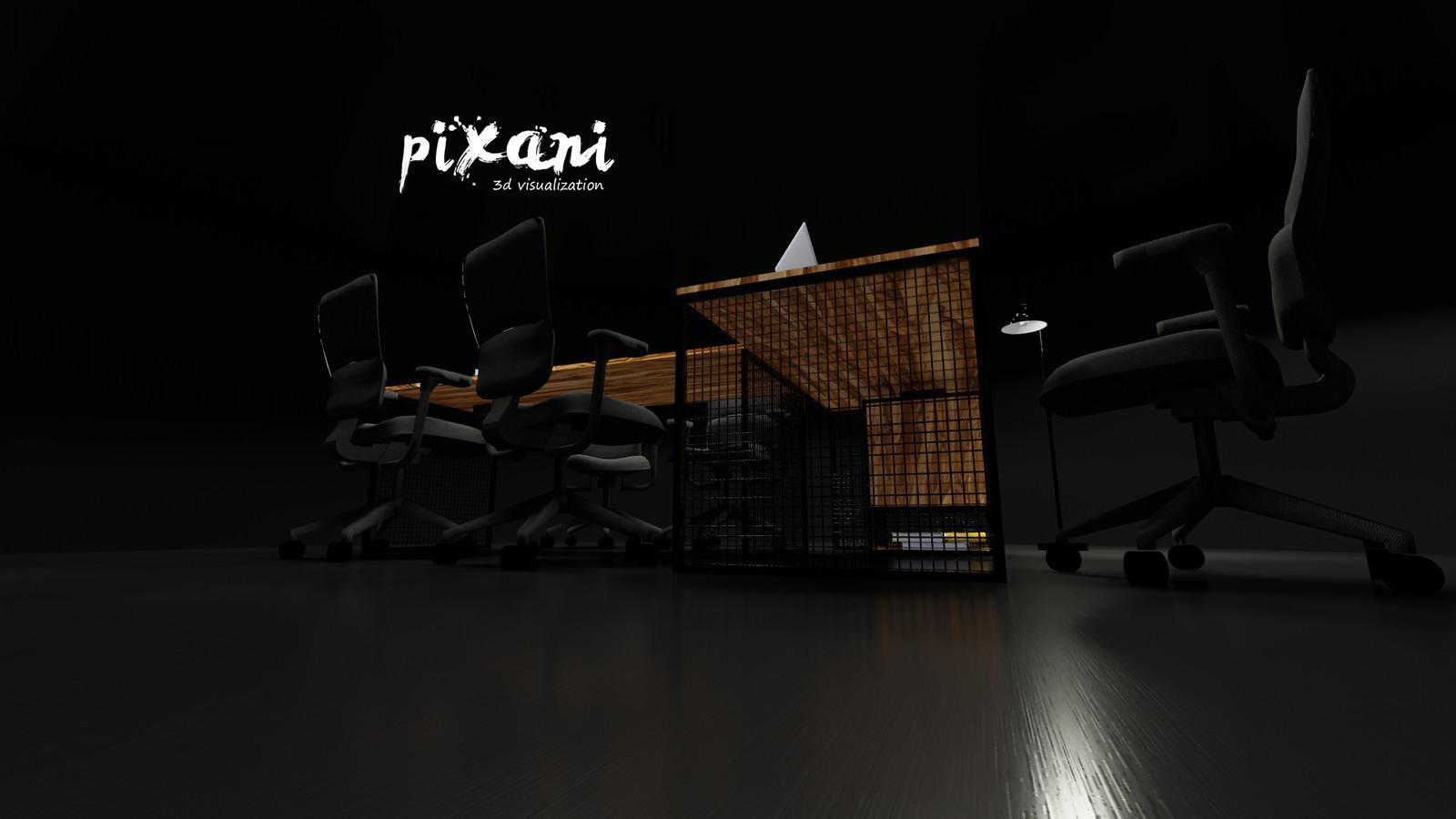 T-DESK gx      T-MASA gx  cage table legs #pixani