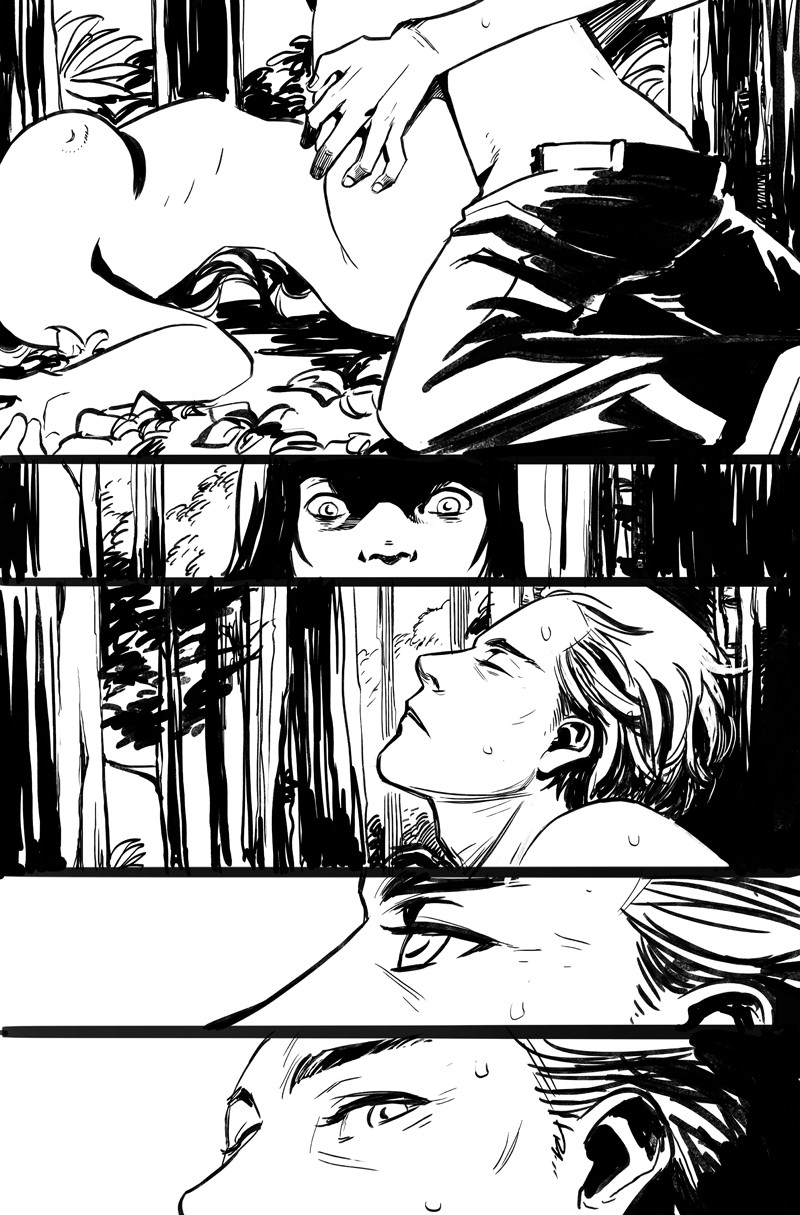 Black and White comic pages