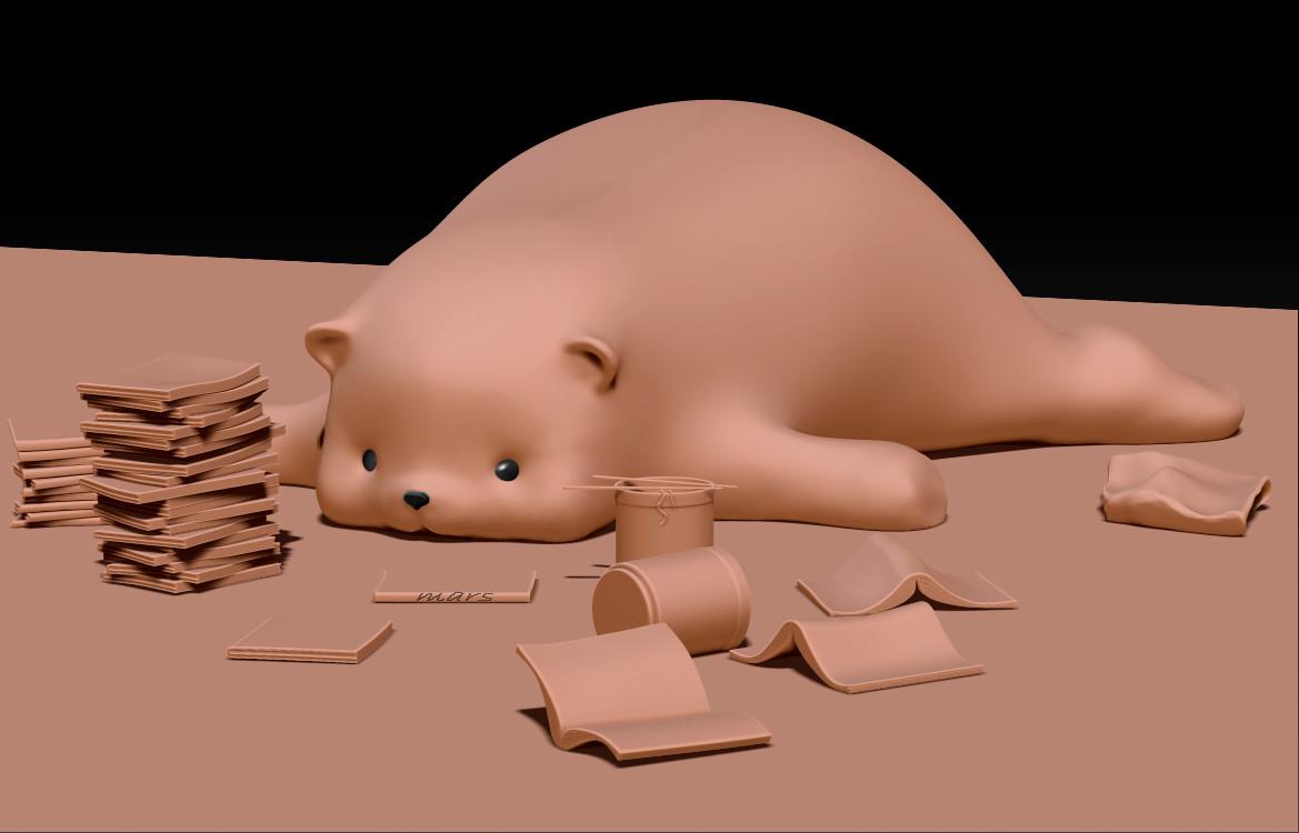 Bear lazy