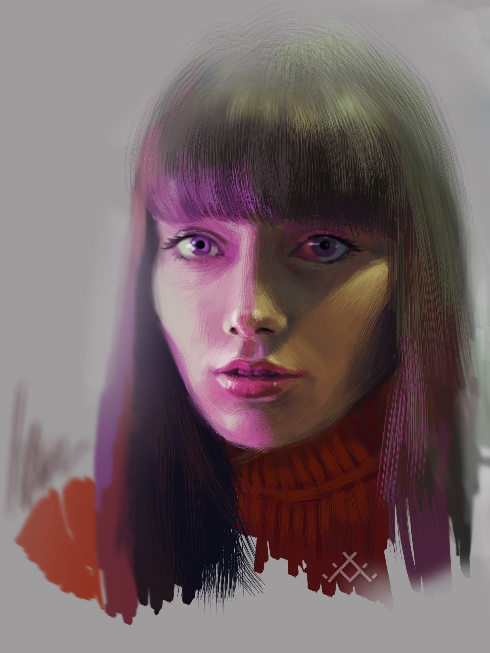 drawing a girl from a photo
