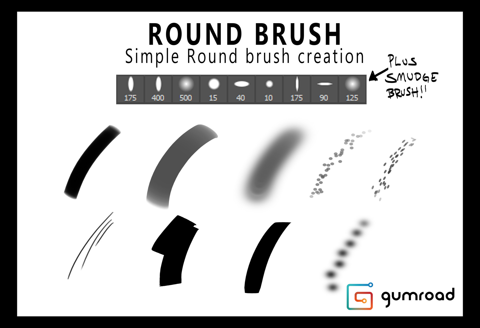 ArtStation - Round Brush Painting + GUMROAD TUT, Jeremy Fenske
