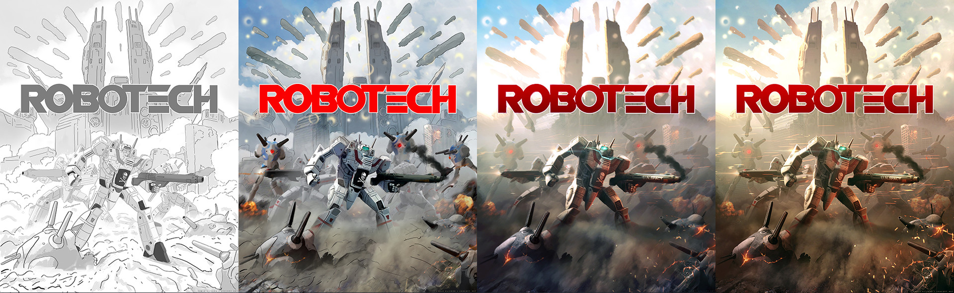Pablo olivera robotech illustration process