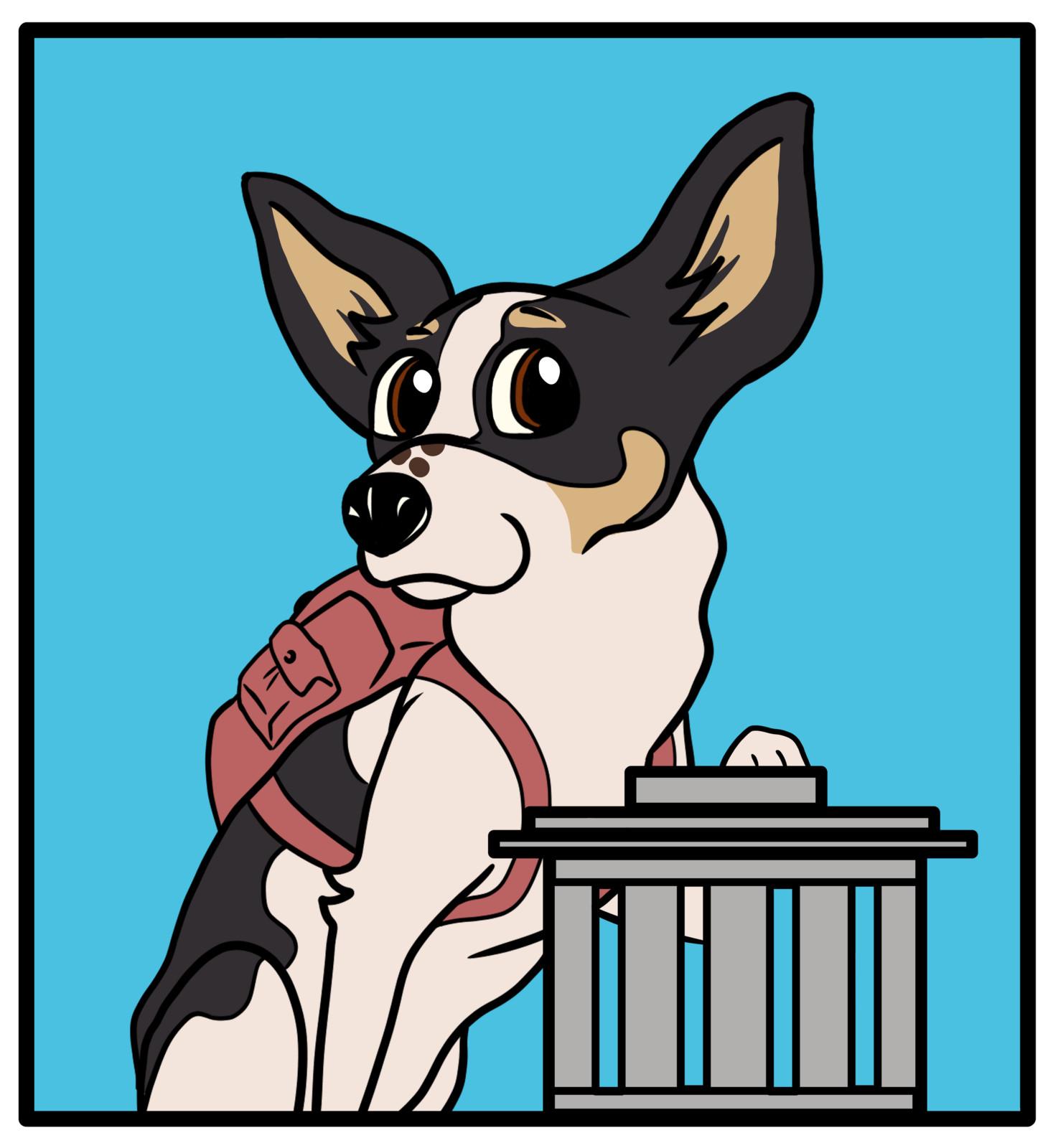 'Jessie' Logo for little social media organisation about dog life