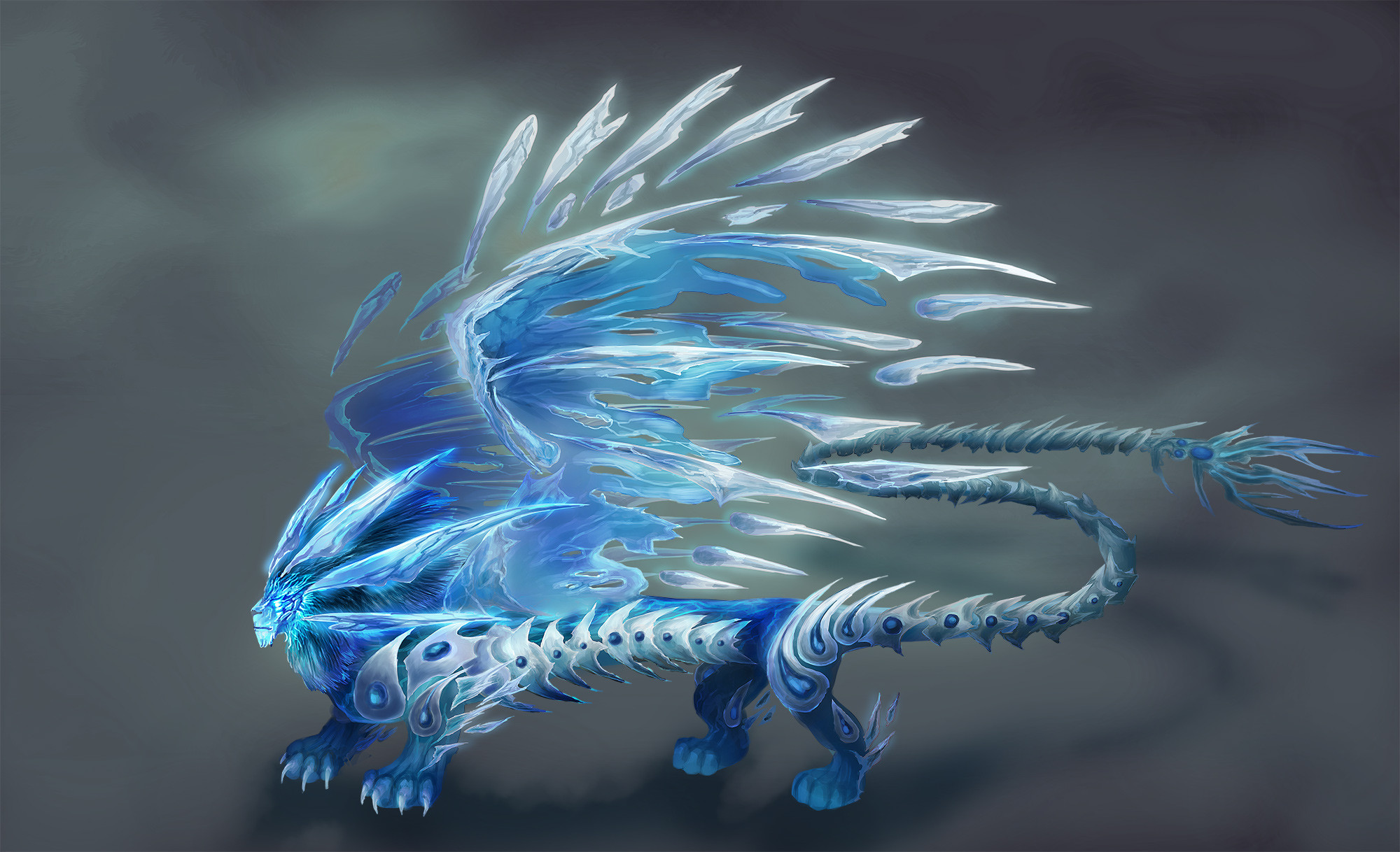 Final concept for the ice lion