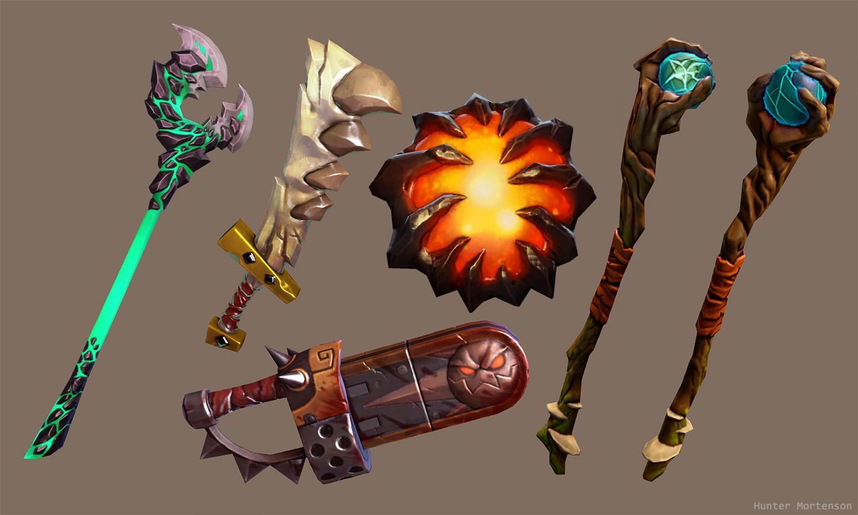 ArtStation - Dota Workshop - Single Items weapons, Hunter