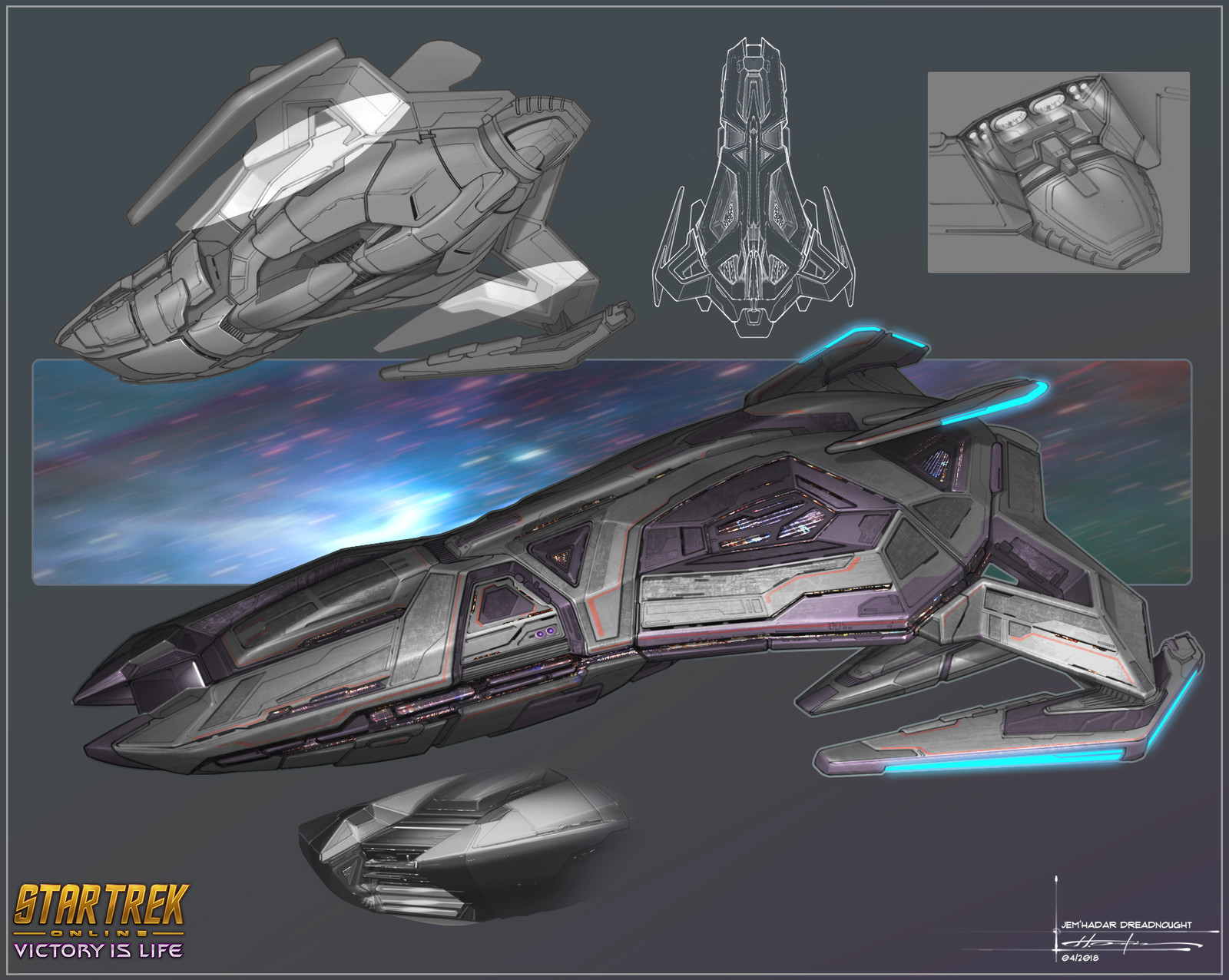 Jem'Hadar Vanguard Dreadnought Cruiser