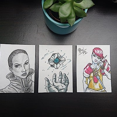 Amy seaman d2 sketch cards 01
