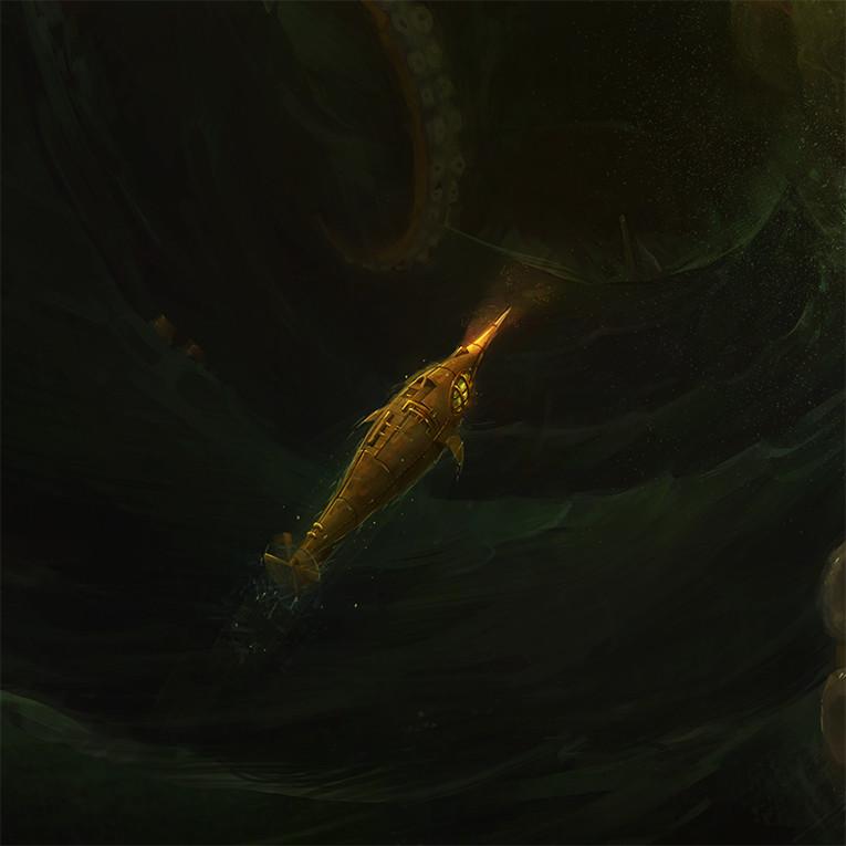 Close up of the Nautilus