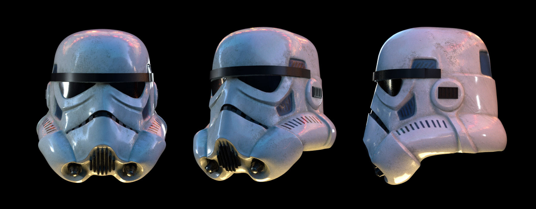 Storm trooper helmet render