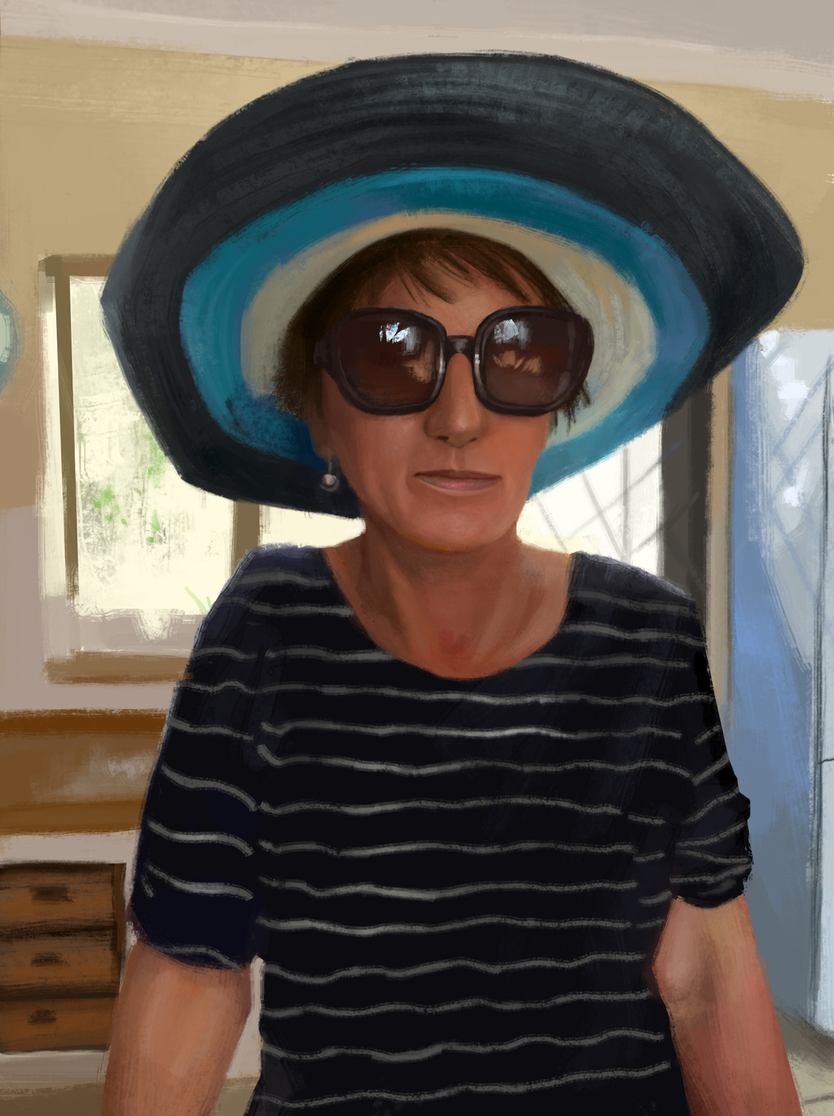 Portrait of my mom