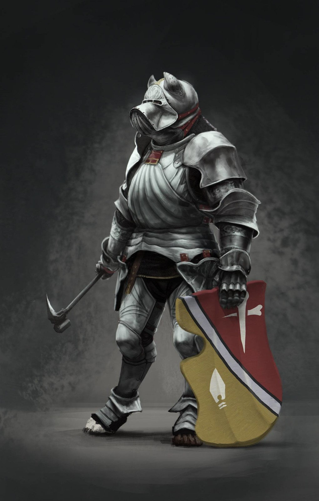 Costume Design: Alvise of the Temple Guard full-plate armor