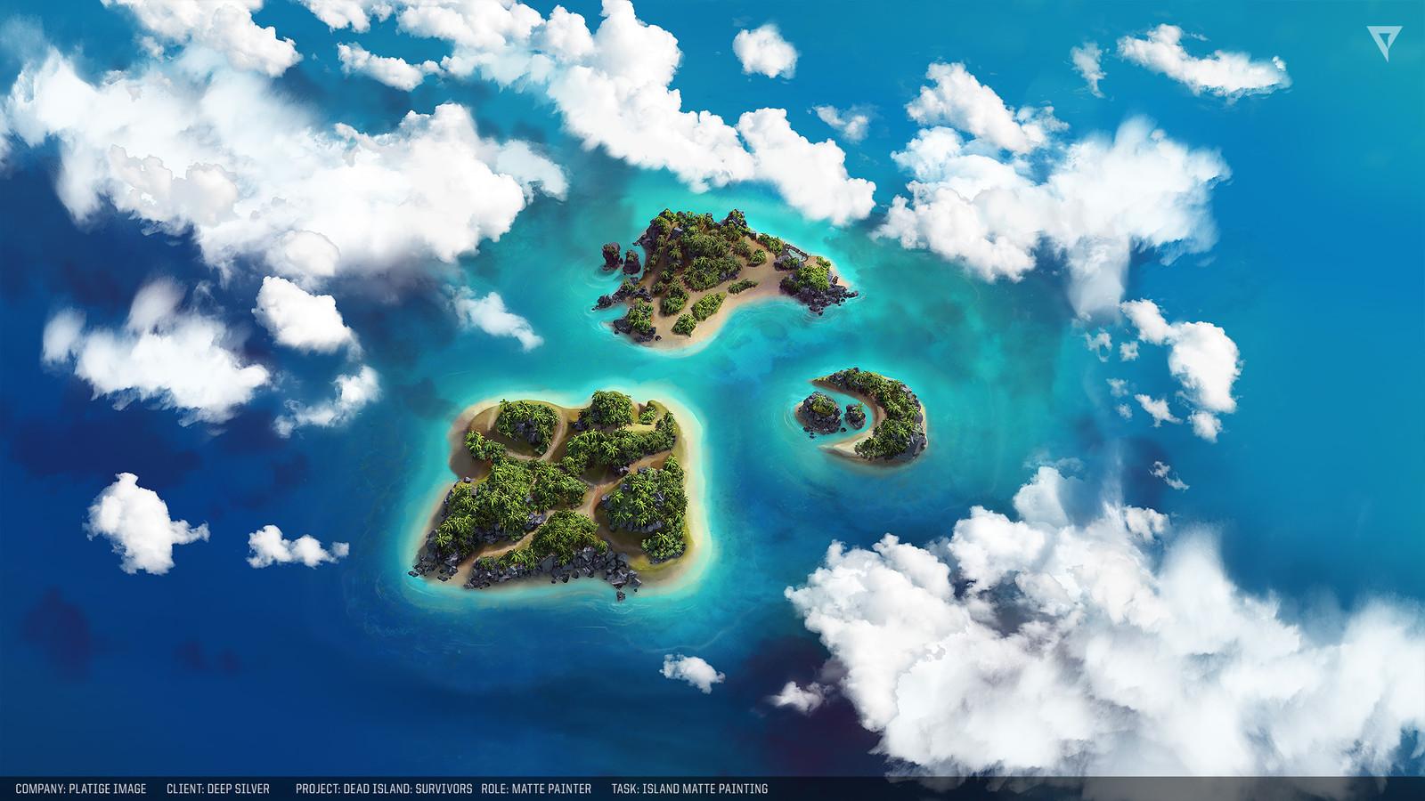 Island mattepainting