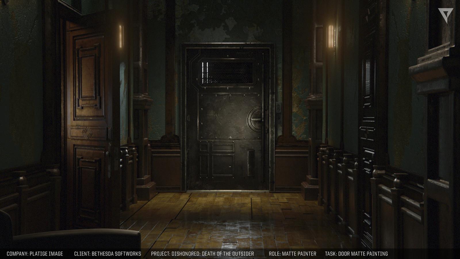Door and wall mattepainting.