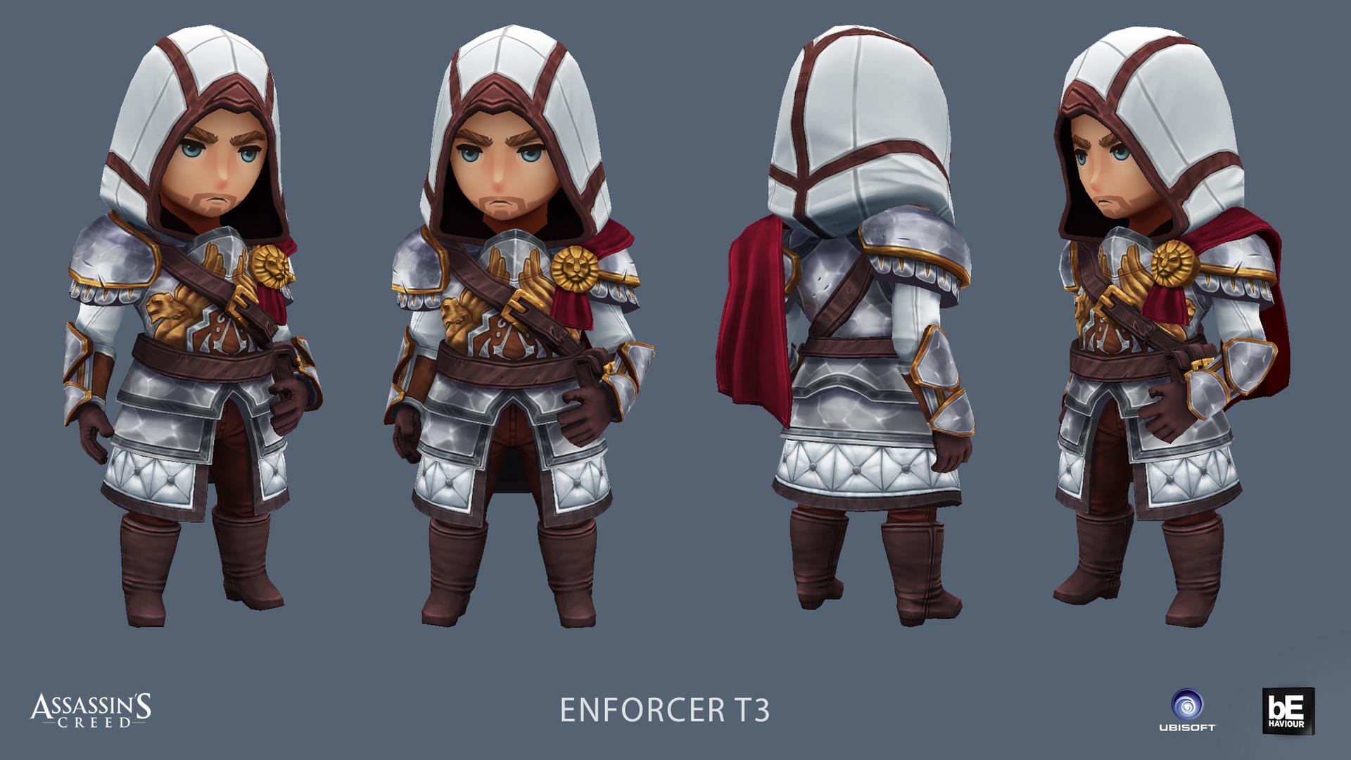 Artstation Assassins Creed Rebellion Characters Eric Bourdages