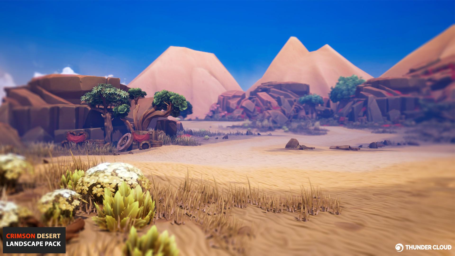 Thunder Cloud Studio - CRIMSON DESERT - UE4 landscape
