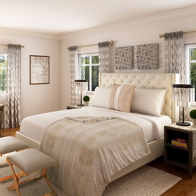 Rayvat Engineering Rustic Bedroom Interior Design San Jose Ca