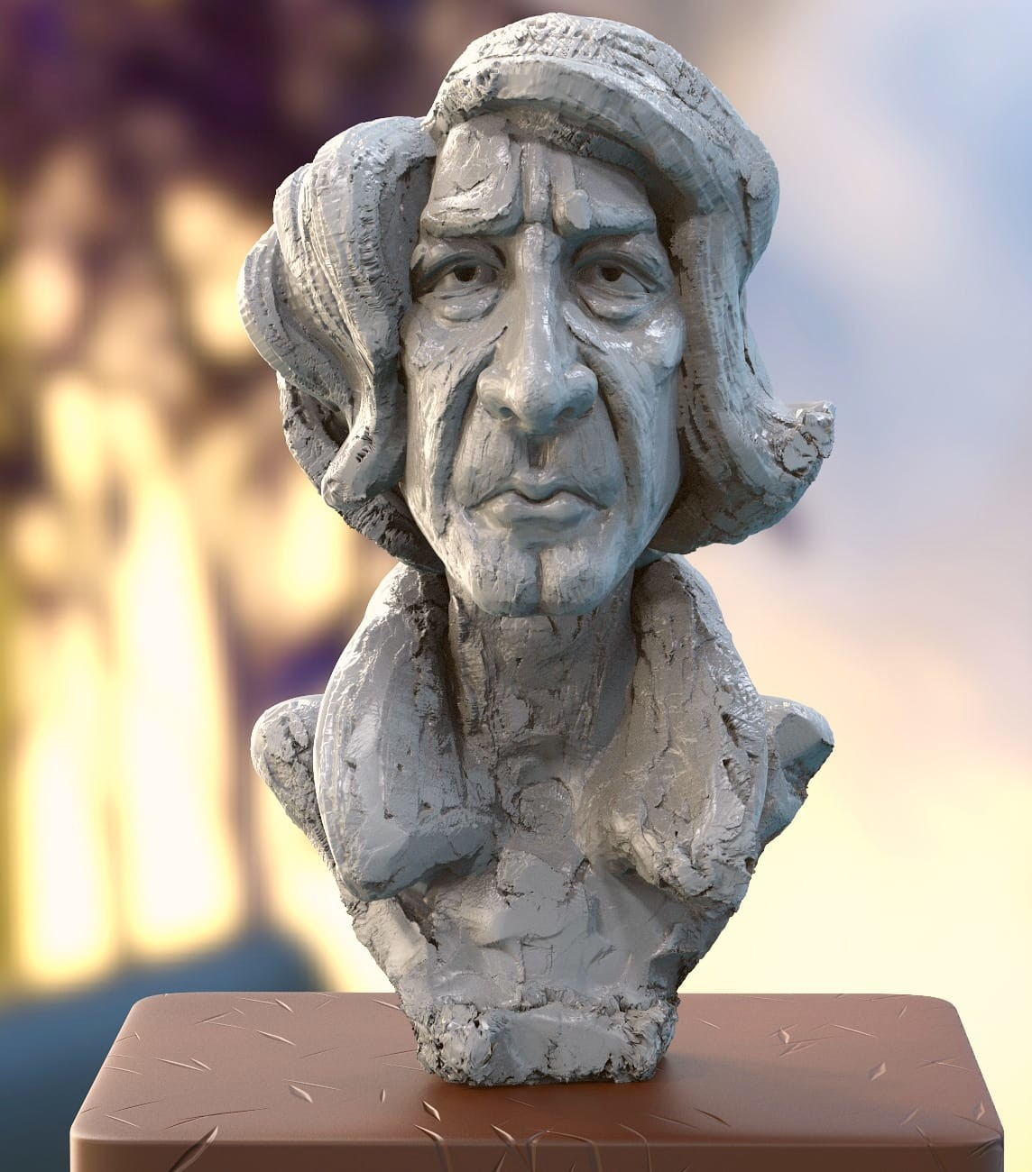 """#doodle #quicksculpt #study   """"Poet"""".....my free time quick sculpt study. Wish to share."""