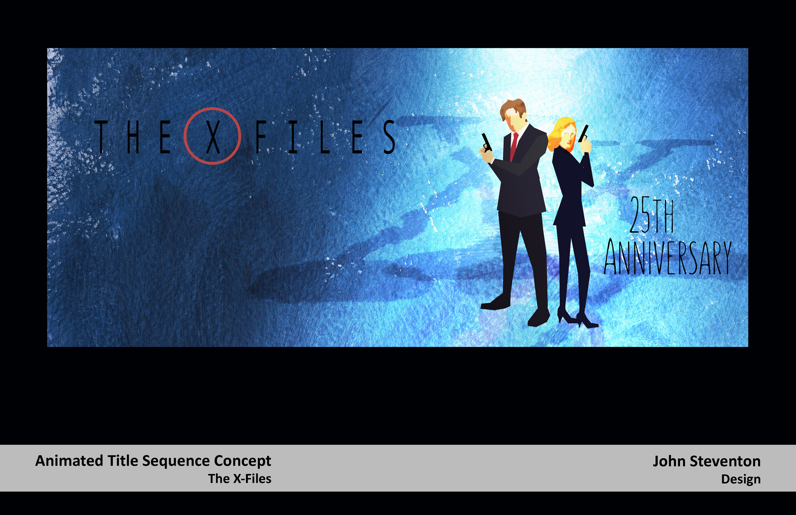 X-Files Anniversary Art: Animated Title Sequence concept