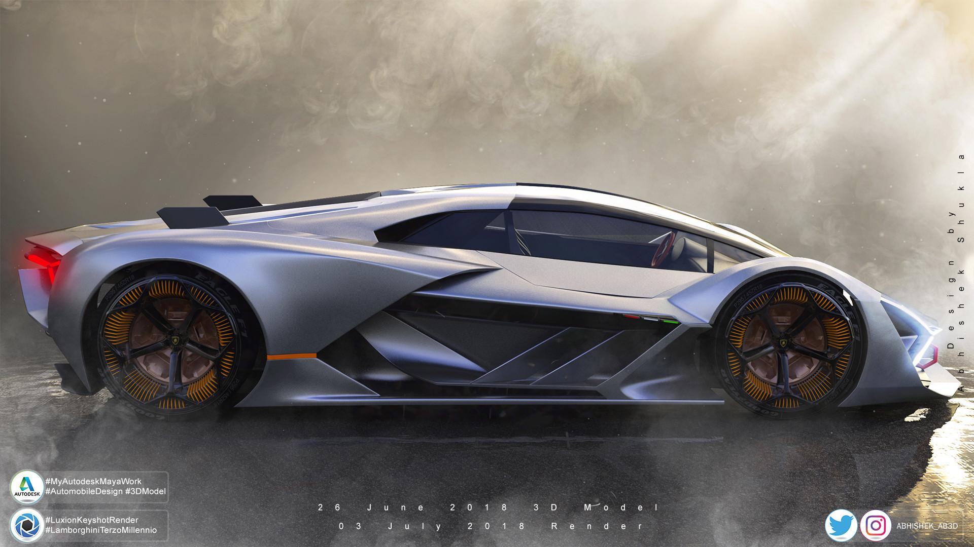 Artstation Lamborghini Terzo Millennio Visualisation Abhishek Shukla