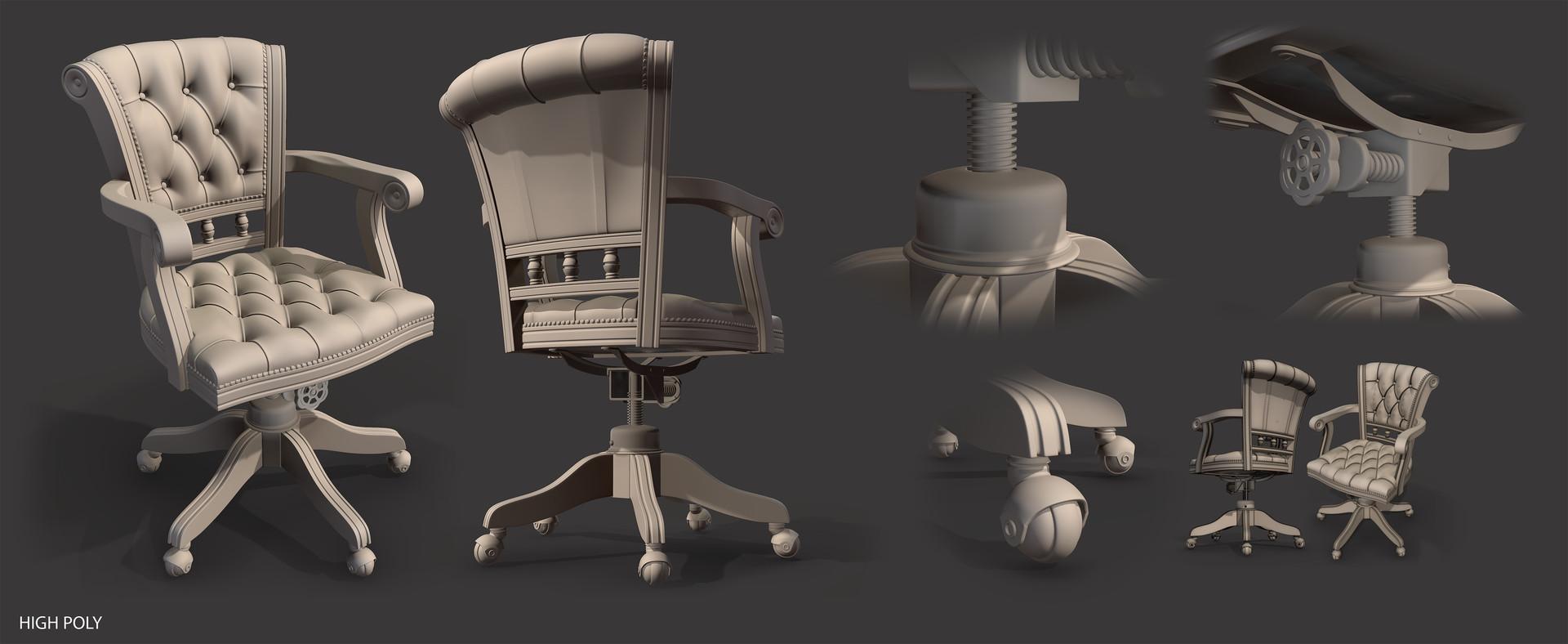 Paul foster chair sheet high