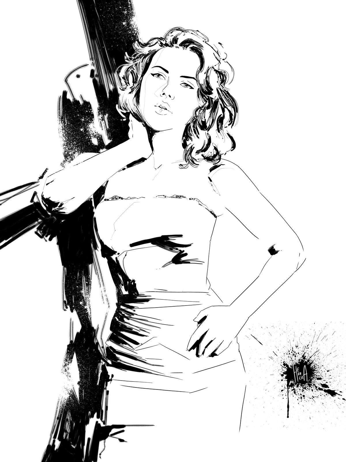 Scarlett impresionist portrait