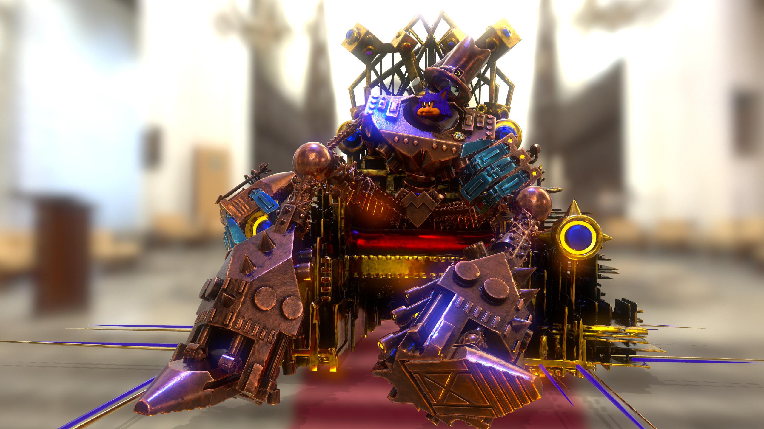 'Meowzer' on his Throne